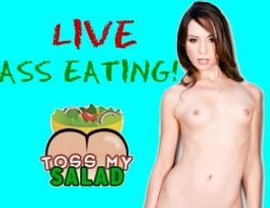 Megan Foxx Tosses Salad LIVE